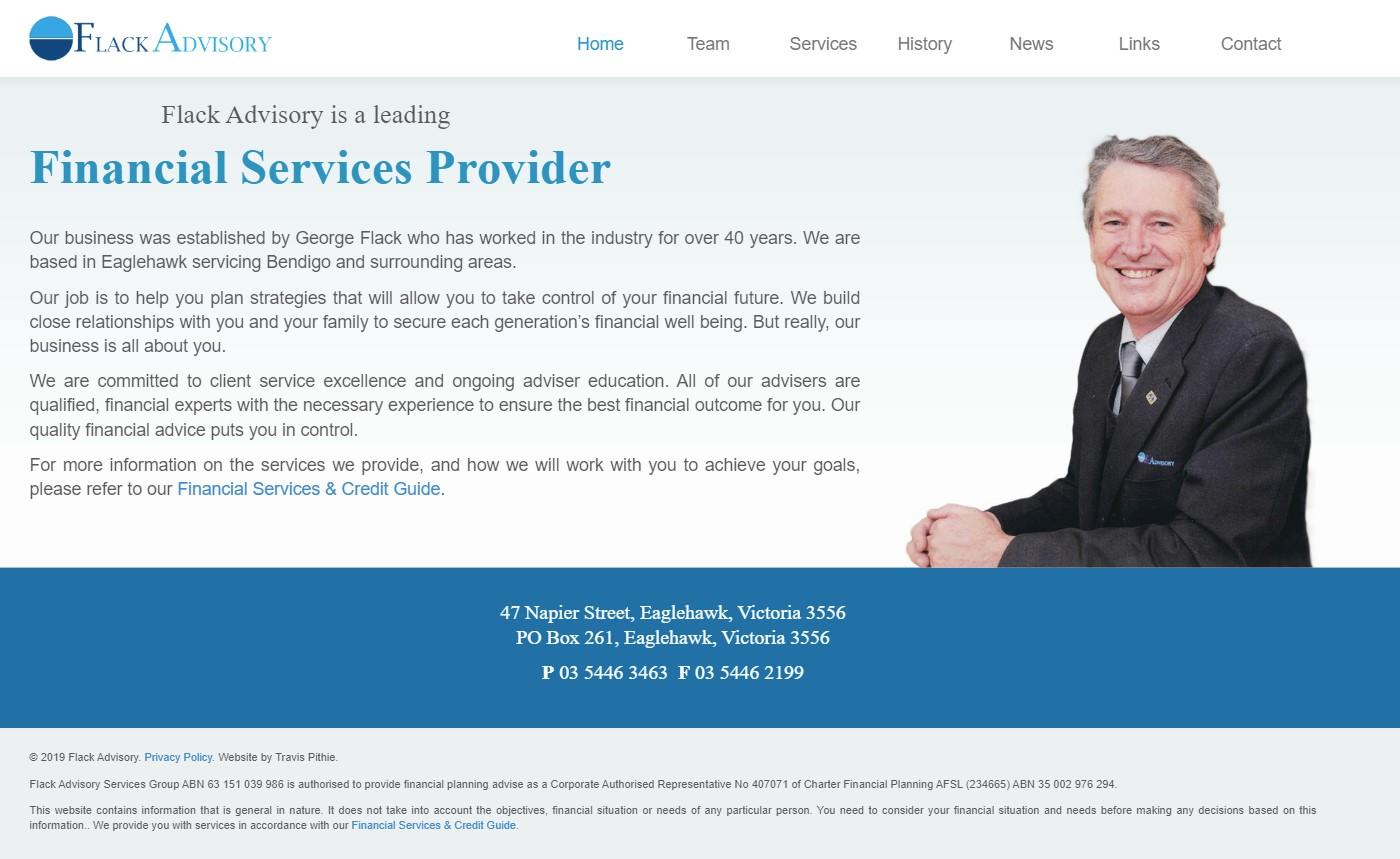 Flack Advisory old website